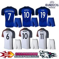 ball france - Thailand Quality European Cup France jerseys Home Away White Blue ball Jerseys Giroud GRIEZMANN Payet MARTIAL POGBA