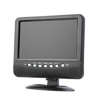 Wholesale 9 inch Portable LCD Color Analog TV Mini Digital TFT Mobile TV Monitor Remote Control Support MMC AVI MP3 US EU plug