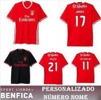 Wholesale Top quality Benfica jersey NEW SL Benfica Soccer Jersey RAUL MITROGLOU PIZZI Sport Lisboa football shirts maillot de foot