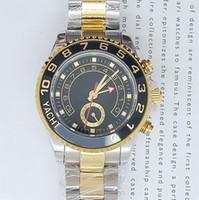 al por mayor relojes de marca precio al por mayor-Los precios al por mayor de las marcas de lujo suizo oro marca Sapphire AAA para hombre reloj de acero inoxidable de dos tonos Conocer hombres mecánicos automáticos del reloj de la caja