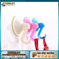 Wholesale Suction Hooks Multi purpose hooks rails bathroom space sucker traceless hook ABS kitchen chuck hook suckers
