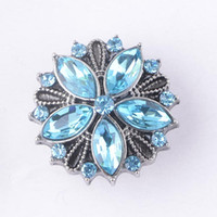 Wholesale Fashion Noosa Ginger Snaps Jewelry Snap Button With Rhinestone Chunks Clasps Snaps Jewelry DIY Interchangeable