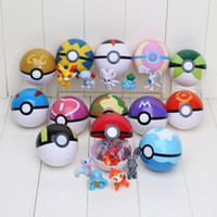 Wholesale 13Pcs Pokeball Poke Figures ABS Action Figures Pikachu Figure PokeBall Fairy Ball Super Ball Poke Ball Kids Toys Gift