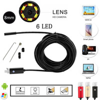 audi cam - 8mm Lens in PC Android Endoscope MP HD P USB Borescope Tube Inspection Wire Cameraon Video Cam Adjustable LED Digital Inspection