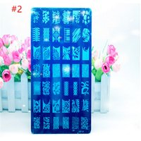 Wholesale 2016 Designs Choice Lace Pattern Stainless Steel Nail Art Stamping Plates Nail Polish Print Template Diy Stencils For Nails
