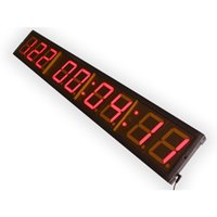 aluminum clocks - EU quot Digits LED Days Countdown CountUP and Clock Red Color Days with Hours Minutes Seconds IR Remote Control Aluminum Casese