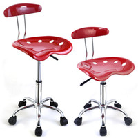 Wholesale 1PC Adjustable Bar Stools Tractor Seat Swivel Kitchen Breakfast Red