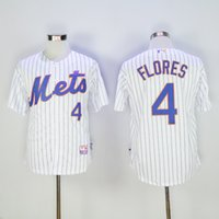 basball jersey - New New York Mets Jersey Mens Wilmer Flores White with Stripes Cool Base Basball Jersey Stitched Jerseys Free Drop Shipping