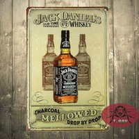 Wholesale Hand Made Whiskey Drink Post Tin Sign Bar Home Decor Man Cave Pub A