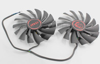 air stocking video - Original Graphics Video Card Cooling Fan For MSI GTX960 GTX950 R9 X X GAMING PLD10010S12HH PIN V A dual fans