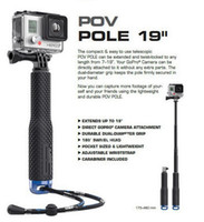 Wholesale 20pcs GoPro Aluminum selfie Stick Extendable Pole Monopod with Mount Adapter for GoPro Hero SJ4000