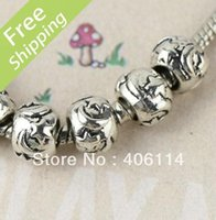 Wholesale MIC Tibetan Silver Moon And Star Round Beads Fit Charm Bracelet mm