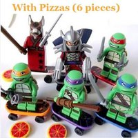 Wholesale 6 Set Teenage Mutant Ninja Turtles Action Mini Figures Building Block Toy New Kids Gift Compatible With