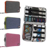Wholesale Extra large Double Deck Organizer Bag Contain Cables HDD USB Flash Drive Case