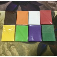 Wholesale 100 Pure Color Matte Sleeves Durable Cards Sleeves Protector For Trading Game Cards MTG Matte Sleeves