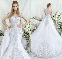 beaded bustiers - Saudi Arabia Dubai mermaid wedding dresses dar sara bridal gowns trumpet bustier neckline beaded crystals wedding gowns