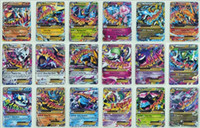 big kids children - 100 Flash card ALL MEGA poke cards EX Charizard Venusaur Blastoise For children Gift English Card