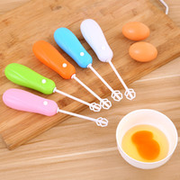 Wholesale Electric handheld household kitchen egg beater Miniature stainless steel egg coffee milk tea stirrer