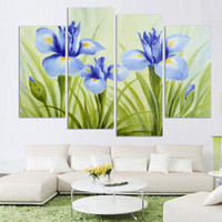 art paintings images - Fashion panel Flower Canvas Paintings Modern Wall Hanging picture Canvas Wall Art HD image print on canvas Unframed h