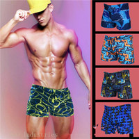 Wholesale men s swimming trunks boxer fashion free size Waterproof quick drying Swimsuit seaside beach sexy swimsuit