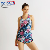Wholesale Amazon burst models flower print shorts breathable professional fitness jogging shorts Yoga Sports short pants