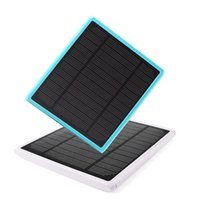 Wholesale 2016 NEW GRARK Hot Sale Solar Panel mAh Ultra Slim SOLAR Power Bank Extral Battery Charger With LED for ALL SMART Phone