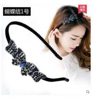 Wholesale Ms classical hair accessories Korean first flower headband headdress hair pinch clamp before issuing diamond hair bands hair