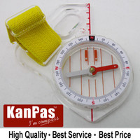 Wholesale stock buttom price sale KANPAS trainning orienteering compass Basic thumb compass MA F free bandana gift