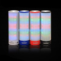 Wholesale Colorful LED Light Portable Wireless Bluetooth Speakers TF Card AUX FM Radio Built in Mic Hands free For Smart Phone GPS Tablet PC