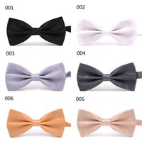 Wholesale Mens Fashion Tuxedo Classic Solid Color Adjustable Party Big Bowtie mixed color Wedding Bow Tie