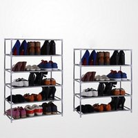 bamboo shoes rack - 2 Tiers Metal Adjustable Shoes Shelf Storage Rack Stand Household Organizer Boot Storage Holder Houseware Home Practical Tools