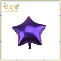 Wholesale 18inch Purple Star shaped Helium Balloons for Birthday Party Hangzhou Toy