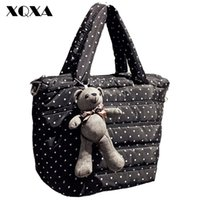 Wholesale Casual Women Oxford Handbags Ladies Cute Dot Cross body Bags Vintage Tote Bag Bolsa feminina Messenger For Girls With Doll
