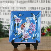 antique chinese paintings - Large Square hand painted Ceramic Hanging Wall Plate Antique Chinese Home decorative ornaments