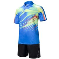 Wholesale mens table tennis shirt woman badminton t shirt unisex badminton jersey sport training polo tshirt camisas tenis de mesa
