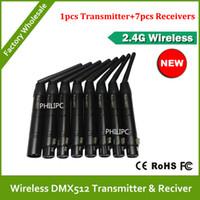 Wholesale DHL DJ led stage light wireless dmx contrller wireless kit control DMX512 wireless transceiver