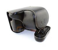 bag ny - Black PU Leather Camera Case Bag Shoulder Strap for S amp ny Alpha A6000 Nex6 mm Lens