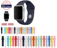 Wholesale 25colors original Colorful mm MM Strap Silicone For Apple Watch Band Sports Buckle Bracelet