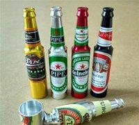 mini wine bottles - Bottle Metal Pipe Beer Wine Mini Bottles Metal Pipes For Smoking Metal Pipe Part Smoking Tobacco Smoking Pipes