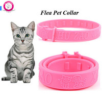 bell bone china - high quality Soft Silicon Pet Cat Flea Collar Adjustable Practical Tick Mite Louse Reject Collar For Cats Kitten