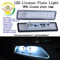astra lights - 2PCS X Replacement LED for Opel Astra Corsa Omega Vectra Zafira LED License Number Plate Light