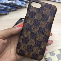 big hard case - Newest iPhone Luxury Big Brand Grid Cases Leather Hard Back Cover Case for iPhone S Plus quot Fashion Protector