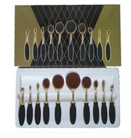 Wholesale A Rose Gold Brushes set Tooth Shape Oval Makeup Brush Set Multipurpose Makeup Brush Powder Eyeshadow Blush with Retail Box