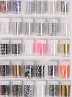 Wholesale 49 styles x100cm Nail Art Transfer Foil Nail Sticker Tip Decal Decoration Design Laser Lace Flower