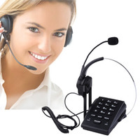 Wholesale Call Center Dialpad Monaural Corded Headset Telephone with Noise Cancellation Pc Recording Function Ideal for Small Offices and