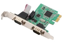 Wholesale PCI E PCI Express to port Serial DB9 RS232 Port Controller Adapter Card Add on card
