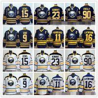 Wholesale Buffalo Sabres Jack Eichel Ice Hockey Jerseys Evander Kane Sam Reinhart Ryan O Reilly Gilbert Perreault Pat LaFontaine