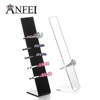acrylic headband stand - 10 Pieces New Design Acrylic Hairband Holder Fashion Hair Clip Display Shelf Headbands Stand Designer Organizer