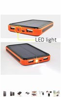 Wholesale 2016 HOT mah Waterproof solar charger Universal power bank dual usb externl battery