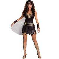 ancient mythology - Halloween Ancient Greek mythology god of war warrior woman costumes temptation Female Soldiers Cosplay Costume Masquerade Dress